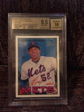 2016 TOPPS HERITAGE REAL ONE YOENIS CESPEDES ON CARD AUTO RED INK SP/67 BGS 9.5