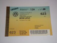 BON JOVI UNUSED CONCERT GIG 1996 TOUR TICKETS Jon EUROPEAN TOUR