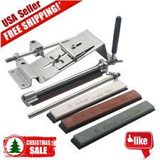 Professional Knife Sharpener Kitchen Sharpening System Fix Angle + 4 Stones VIP