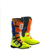 GAERNE REACT ORANGE/BLUE/YELLOW MX BOOTS, ENDURO, TRAIL & OFF ROAD BOOTS