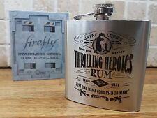Official FIREFLY SERENITY 6oz Stainless Steel Hip Flask Whisky Rum Cobb NEW Tam