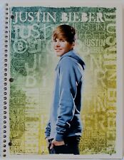 Justin Bieber Blue Hoodie - SPIRAL NOTEBOOK 2011 - 70 Wide Ruled Sheets  - NEW