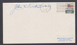 John O. Pastore, Governor & US Senator from Rhode Island, signed 1968 cover