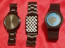 3 Hammacher Schlemmer LED Face Watch, HALOTECH LITHOPHANE WATCH & Faceless Watch