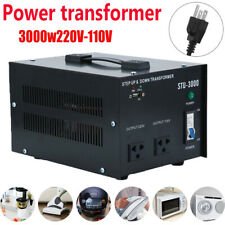 3000W Step Up Down Electrical Power Voltage Converter Usb Transformer Heavy Duty