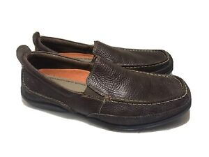 Hush Puppies Wave Reflex Leather Loafers Size 9.5 U.S Mens H103376