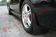 Rally Armor MF1 Mud Flaps Kit w/ BLACK Logo for 02-07 SUBARU WRX STi RS 2.5i