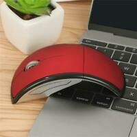 Optical Foldable Wireless 2.4G Mice Mouse USB Receiver Se For Laptop D7M3