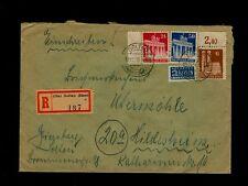 """November 10 1950 SOLTAU Germany to HILDESHEIM """"Einschreiben"""" w/NOTOPFER BERLIN"""