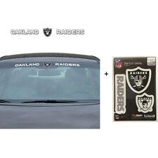 NFL Oakland Raiders Car Truck Suv Windshield Decal Sticker with Bonus