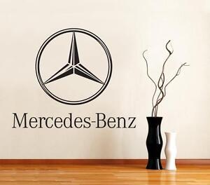 Mercedes Benz Logo Car Decal Removable WALL STICKER Graphic Home Decor Art ST117