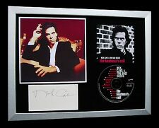 NICK CAVE+BAD SEEDS+SIGNED+FRAMED+BOATMAN'S CALL=100% GENUINE+FAST GLOBAL SHIP