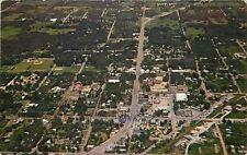 Apopka Florida~Aerial View~1950s Postcard X is Park Ave nr Where I Live