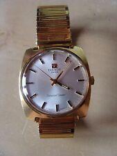Ancienne montre d'homme suisse mécanique Tissot Seastar Seven plaqué or