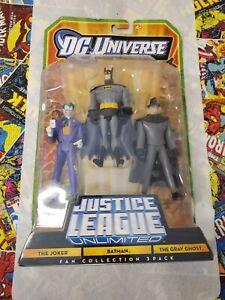 Justice League Unlimited Matty Fan  3 Pack of The Joker/Batman/The Gray Ghost