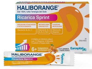 MULTIVITAMINICO + PAPPA REALE Haliborange Ricarica Sprint da 20 Stick Pack