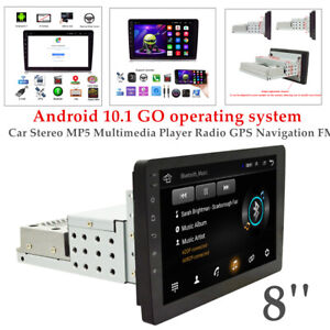 8inch 1DIN Android 10.1 Four core Car Stereo MP5 Player Radio GPS Navi FM 1+16GB