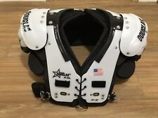Douglas CP 25 RB DB QB Football Shoulder Pads White/Black 2XL $462 Made In USA