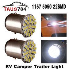 2pcs  BAY15D 1157 Pure White Car Back Up Reverse Brake Light 22-SMD LED Bulbs