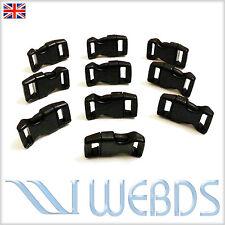 "10 pcs X 15mm 5/8"" Survival Paracord Bracelets Curved Side Release Buckles New"