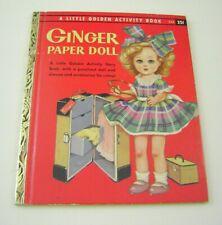 Vtg Paper Dolls 1957 Ginger Little Golden Activity Book Intact Uncut!