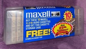 Maxell XL-II 90-minute Blank Audio Cassette - Inclues 10 Cassettes and 1 Case