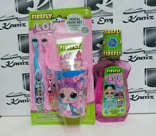 Firefly LOL Surprise  Toothbrush, Toothpaste, Beaker & Mouthwash Set of 5 Items