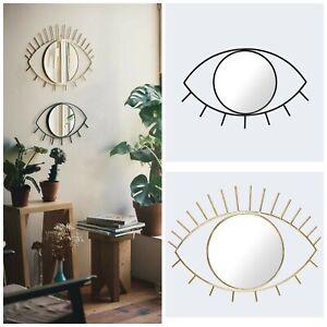 Gold Wall Mirror - Cyclops - Christmas Xmas Gift Tribal Eye - Home Decor