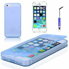 Housses et coques anti-chocs bleu transparent en silicone, caoutchouc, gel pour téléphone mobile et assistant personnel (PDA)