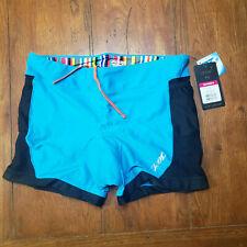 "ZOOT Women's XL Tri Short 4"" Inseam Blue Performance Trishort Run Swim Cycling"