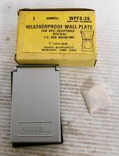 Hubbell WPFS-26 Weatherproof Wall Plate