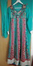 Blue Pink Anarkali Lengha Asian Pakistani Abaya Eid Wedding Size Small Heavy