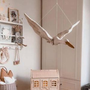 Swan Wall Decor Ceiling Hanging  for Kids Room Crib Nursery  Swan Stuffed Toy