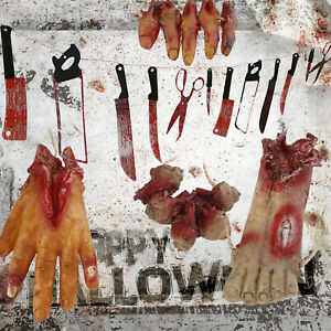 Halloween Bloody Knives/Body Parts Weapon Hand Eye Hanging Haunted Scary Horror