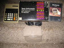 Vintage RareTexas Instruments Electronic Calculator Ti-4000 Still In Box 1973