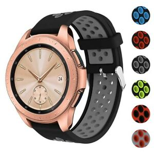 StrapsCo Perforated Rubber Watch Band Strap for Samsung Galaxy Watch/Active/Gear