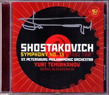 Yuri TEMIRKANOV Signed SHOSTAKOVICH Symphony No.13 Serge ALEKSASHKIN Babi Yar CD