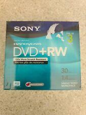 Sony Handycam Dvd+Rw 3 Pack Sealed