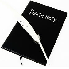 Hot Anime Death Note Notebook Book +Feather Pen Cosplay Gift High Quality New