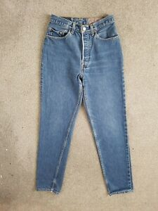 Vintage Levis 901 High Waisted Tapered Blue Mom 80s 90s Jeans Size 8 W26 L30