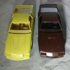 2 Vintage Camero Model Cars 1984 & 1985 Polyglas GT Goodyear Collectible Toy WOW