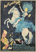 Original Vintage Poster German Aufgalopp Horse Champagne 1937