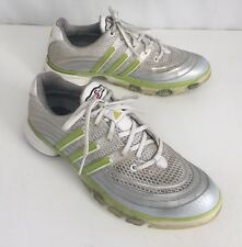 Adidas Powerband Chassis Golf Shoes Mens Silver & Green size 8.5