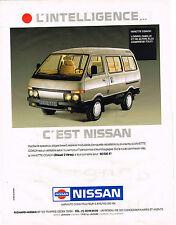 PUBLICITE ADVERTISING 094  1989  NISSAN    VANETTE COACH
