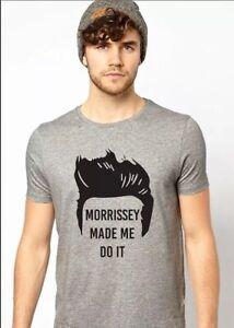 EUC The Smiths Morrissey Made Me Do It Pompadour Gray T-Shirt Adult XL