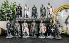 Ebros Set of 12 Medieval Knights Crusaders Figurines Suit of Armor Miniature