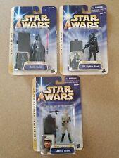 Star Wars Saga Admiral Ozzel Darth Vader TIE Fighter Pilot Lot MOC 2004 Figure