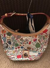 Dooney And Bourke Sketch Art Leather Bucket Handbag
