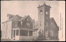 FALLS CREEK PA Baptist Church Vintage B&W Town View Postcard Old Pennsylvania PC