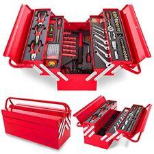 Caja herramientas Maletín Portátil aluminio 118 piezas Greencut muy completo